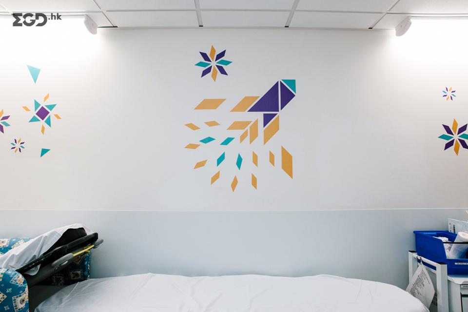 谢菲尔德儿童医院EGD环境空间图形设计 © Thomas.Matthews