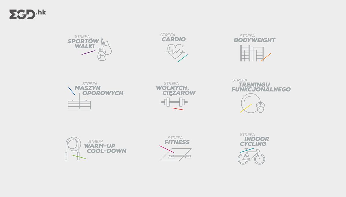 Cityfit健身房导视系统设计 © MamaStudio Design