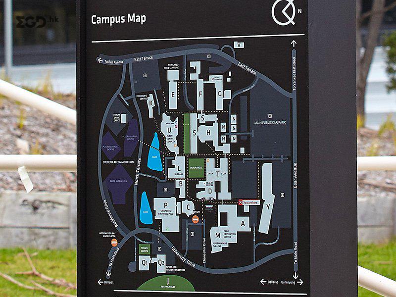 澳大利亚联邦大学校园EGD导视系统设计 © buronorth