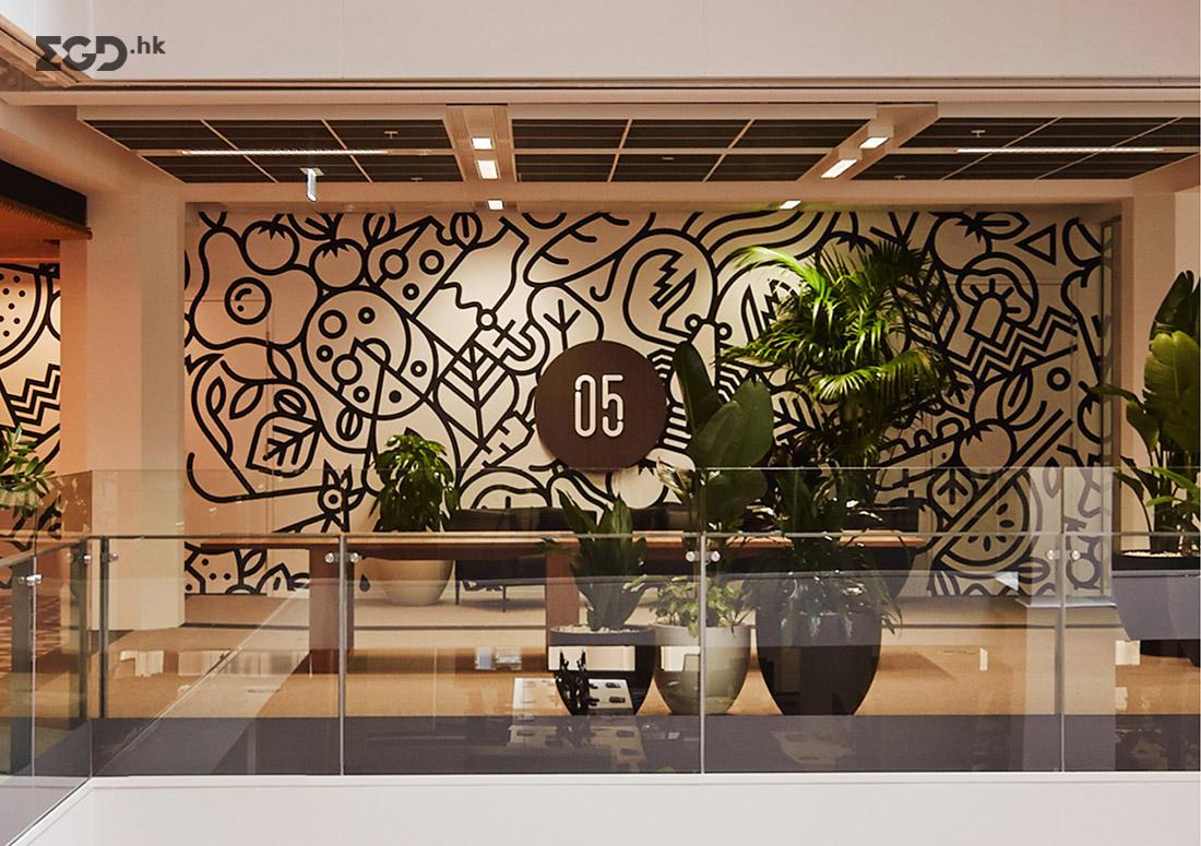 Macquarie Cafe 环境图形 © Houston Group