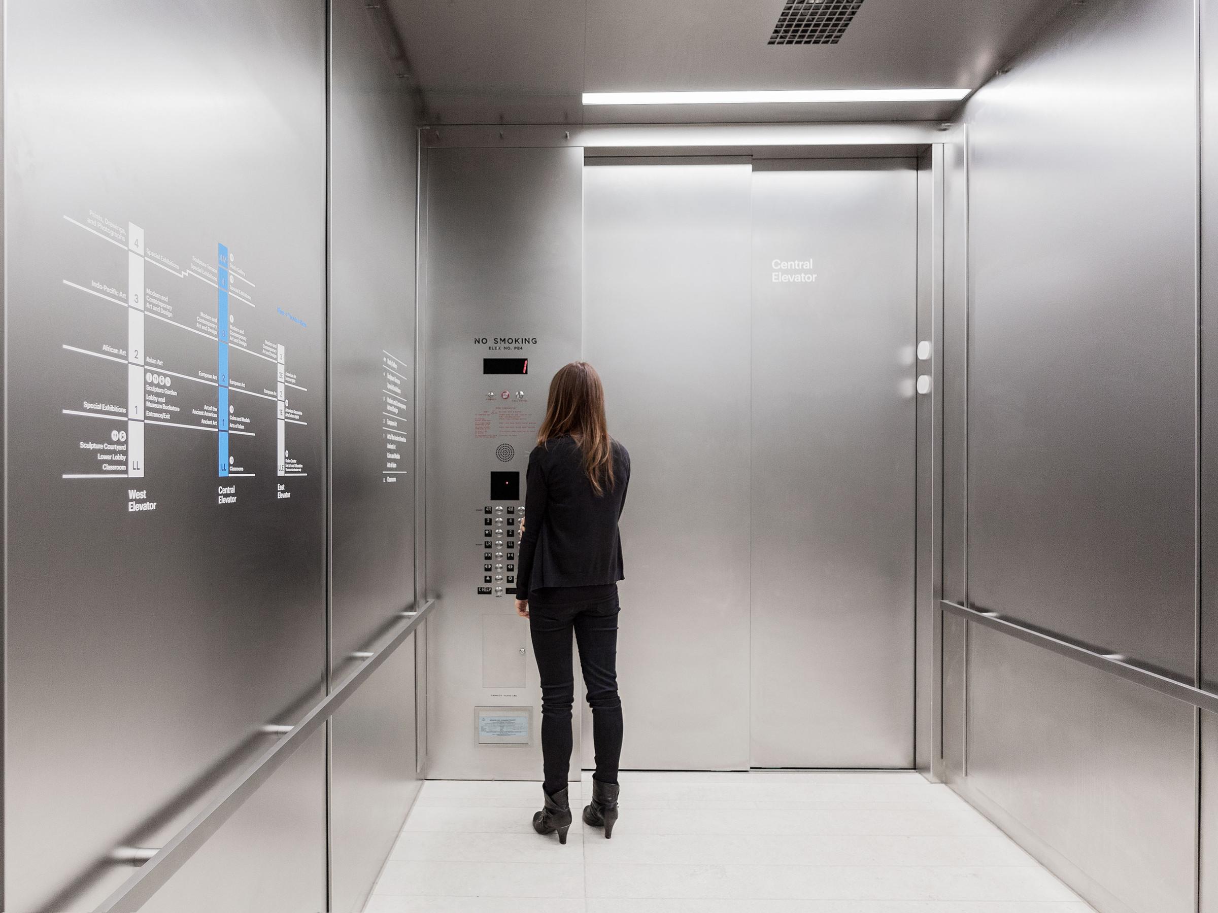 耶鲁大学美术馆导视系统设计 © Project Projects