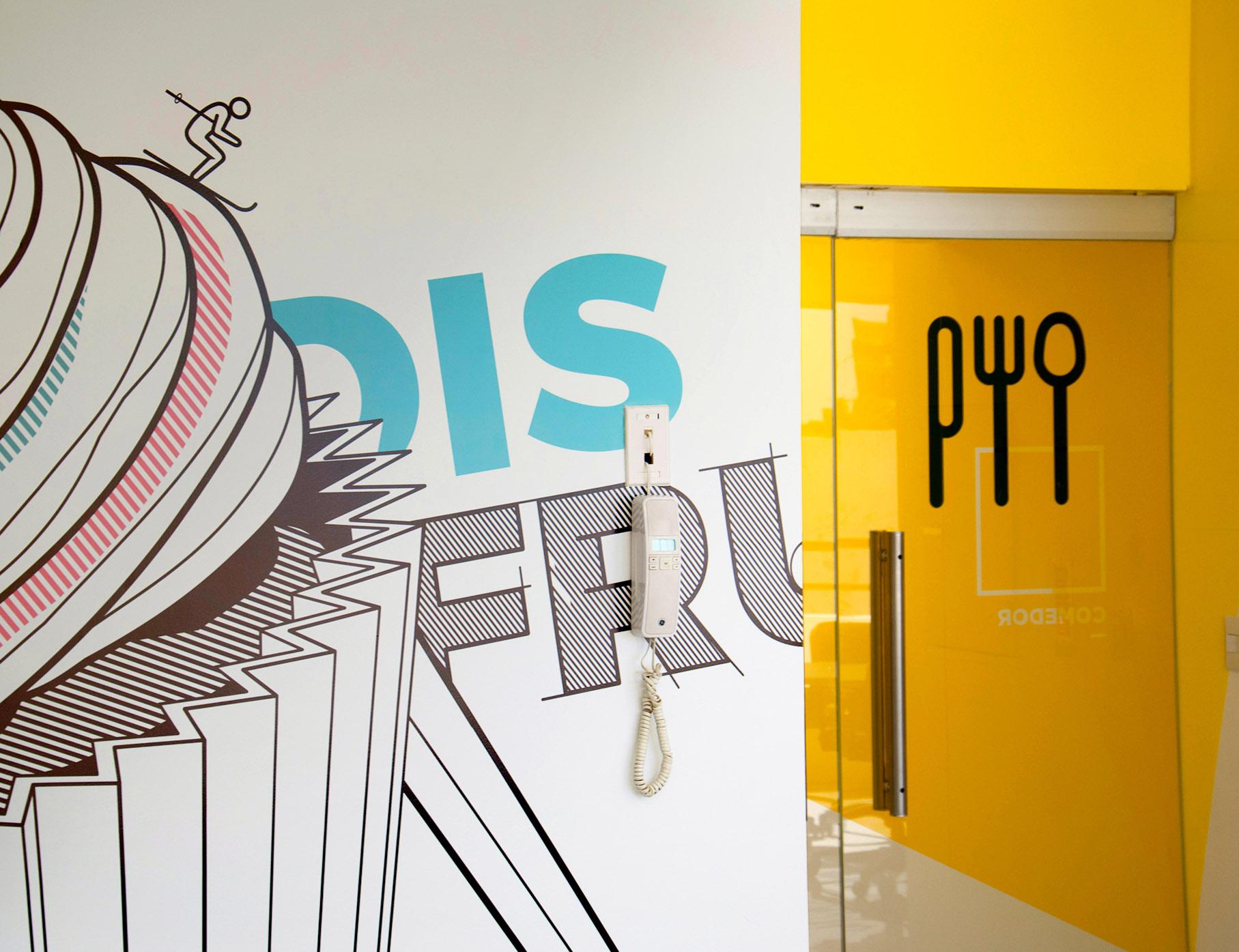 Artelum办公室标牌、指示系统设计及环境图形插画设计 © InPlace Design