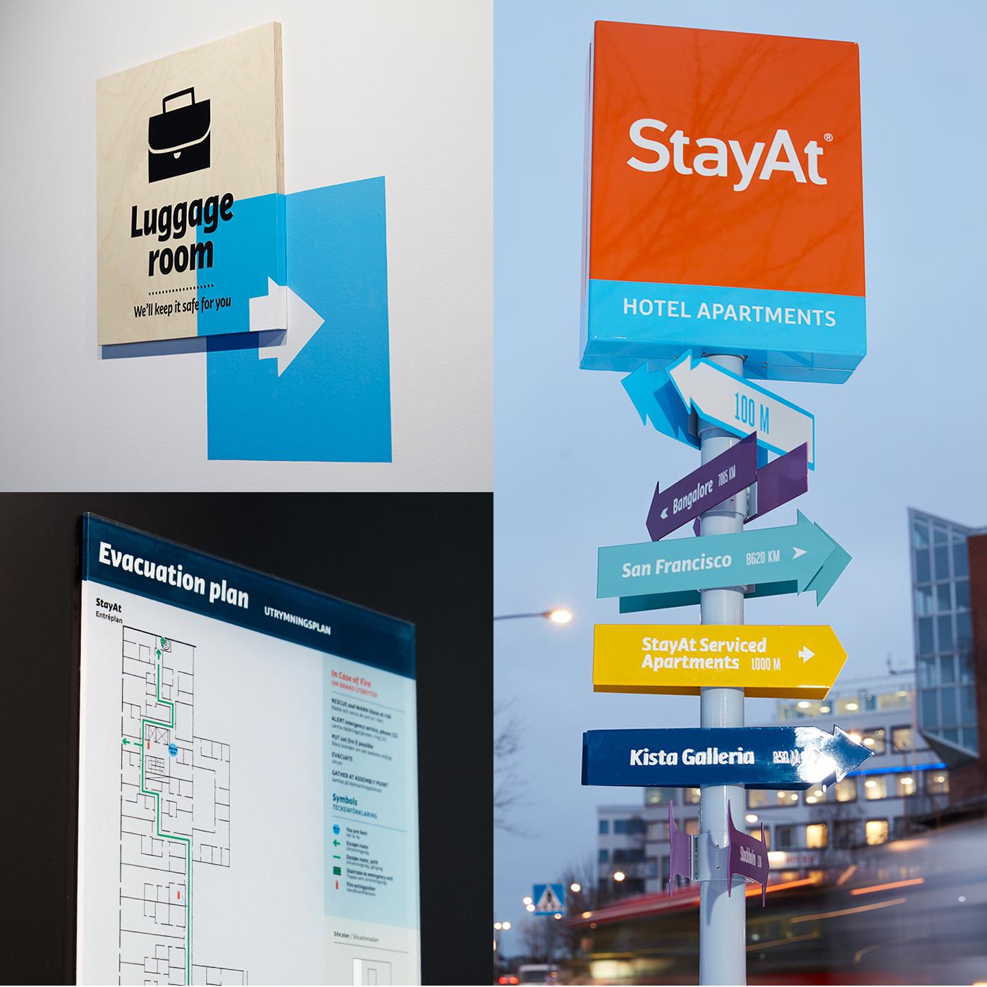 StayAt酒店导视设计 © under