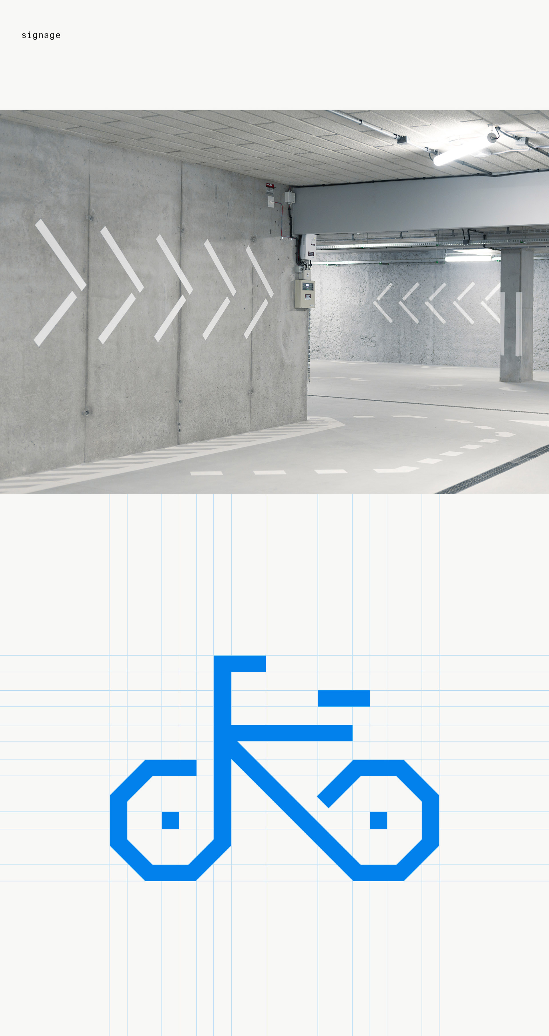 Signage and wayfinding system for an underground parking © noito studio