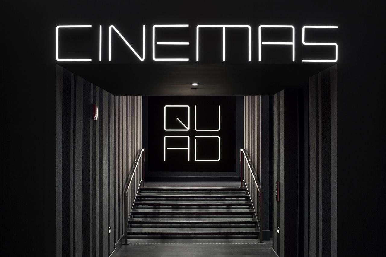 纽约Quad电影院公共视觉设计© pentagram五角设计