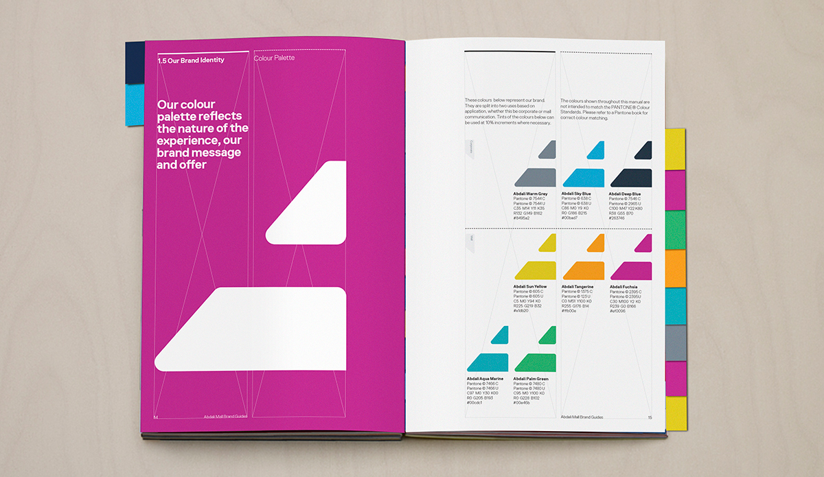 Abdali购物中心品牌形象及导视设计© Gensler London Graphic Team