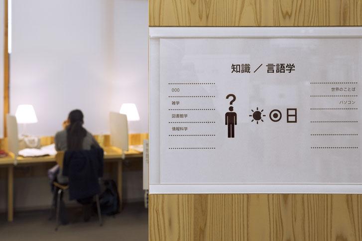 小诸市图书馆和市民交流中心导视设计 © teradadesign ARCHITECTS