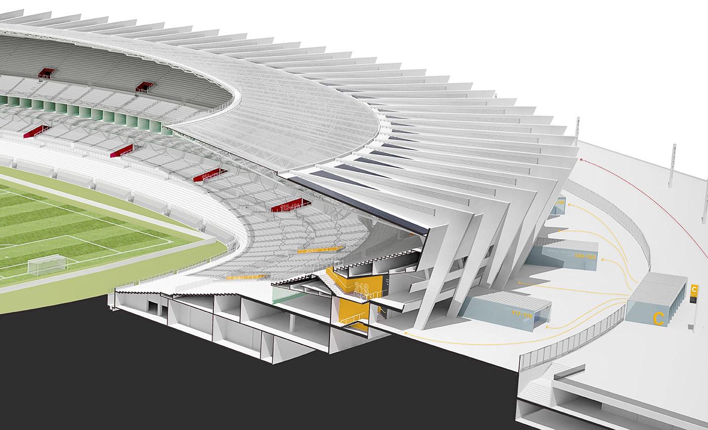 米内罗体育场导视设计© hardy design
