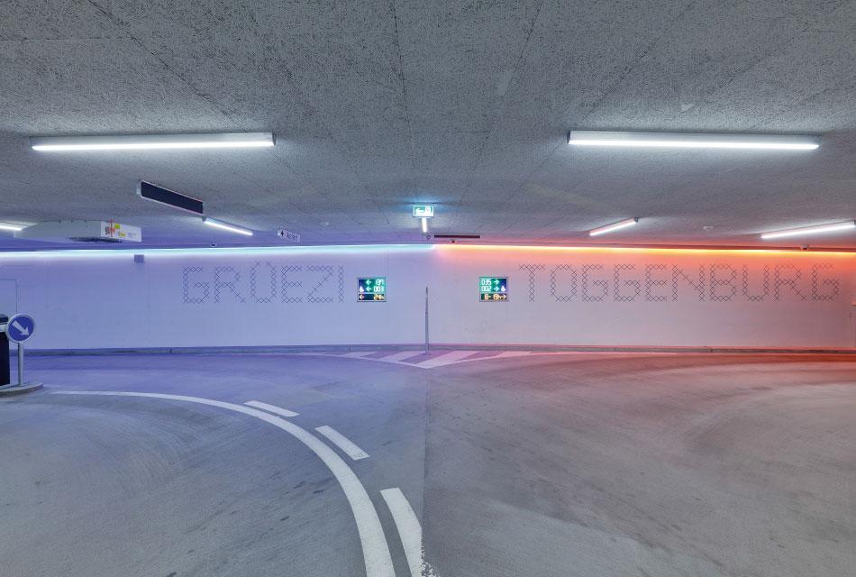 停车场图形设计及指示系统AREAL & PARKING WATTWIL SÜD © feinform