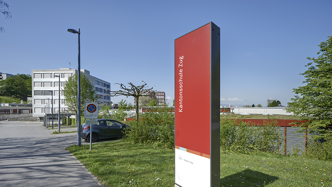 Kantonsschule Zug学校导视设计,校园标识设计 © Otth AG