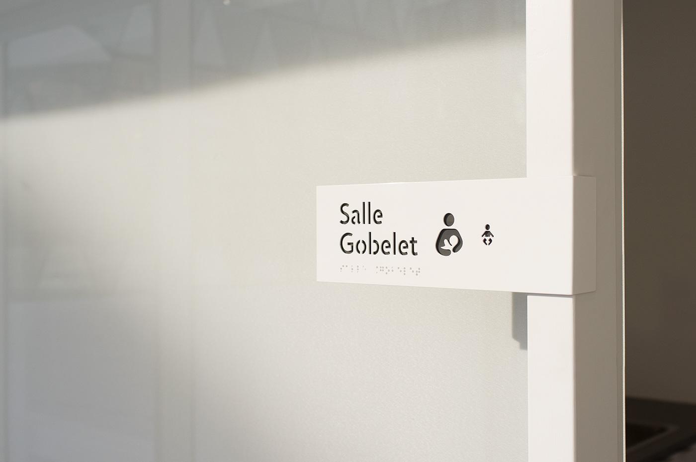 Marc-Favreau图书馆导视,EGD, 环境图形设计, 图书馆标识,图书馆指示系统