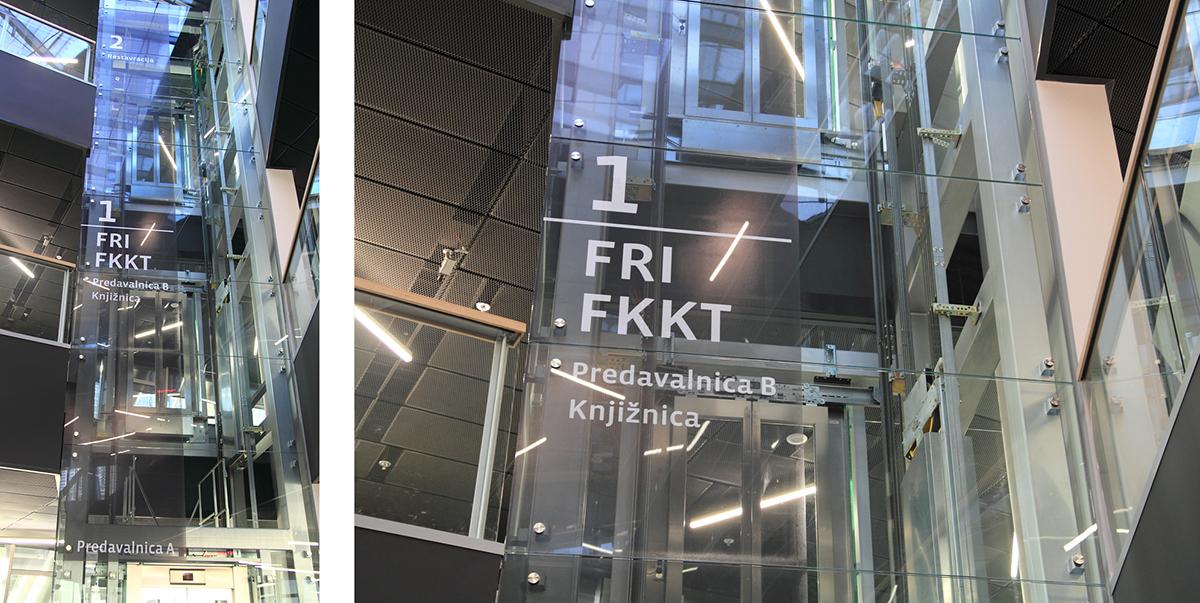 FRI和FKKT学院导视系统 © Ivan Pucić