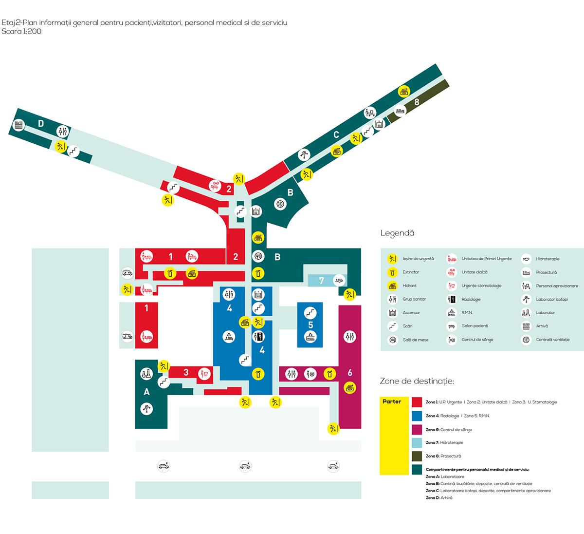 克拉约瓦紧急临床医院导视规划设计 © Adrian Roșianu