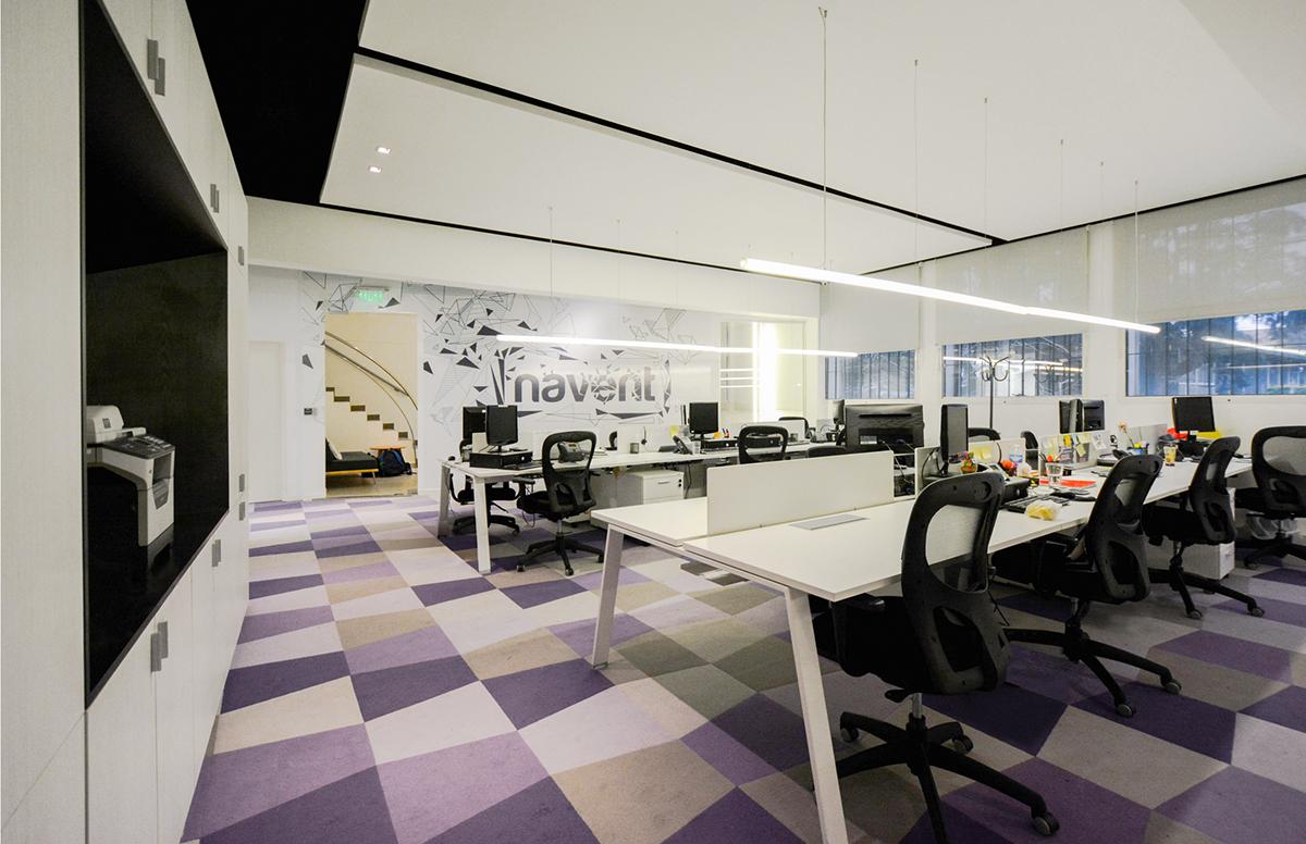 NAVENT办公室环境品牌与图形设计 © InPlace Design