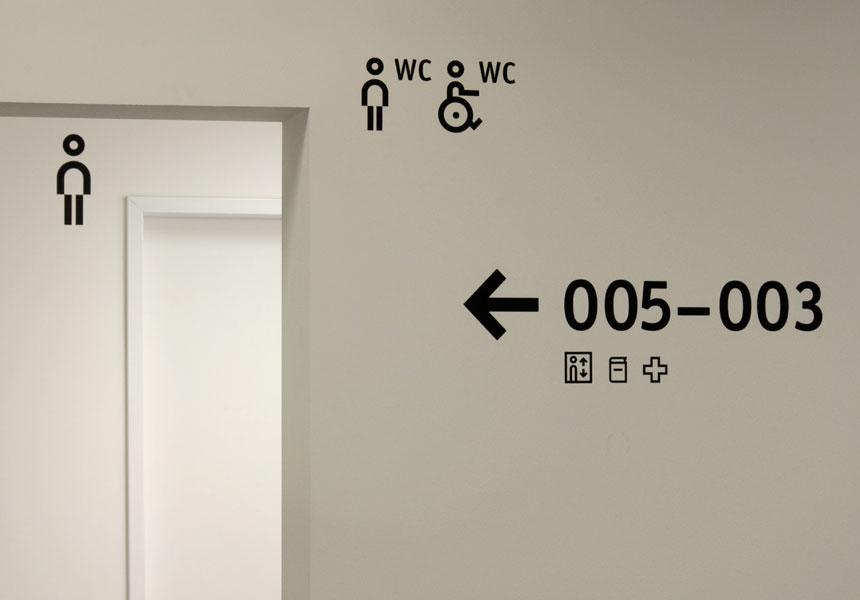 校园标识,校园标牌,大学导视,柏林应用科技大学导视设计 © polyform