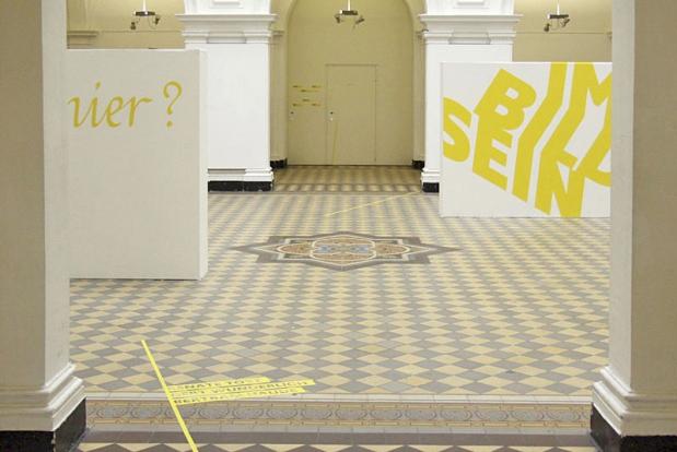 莱比锡书籍艺术及平面设计学院画廊的环境图形设计@studiokw