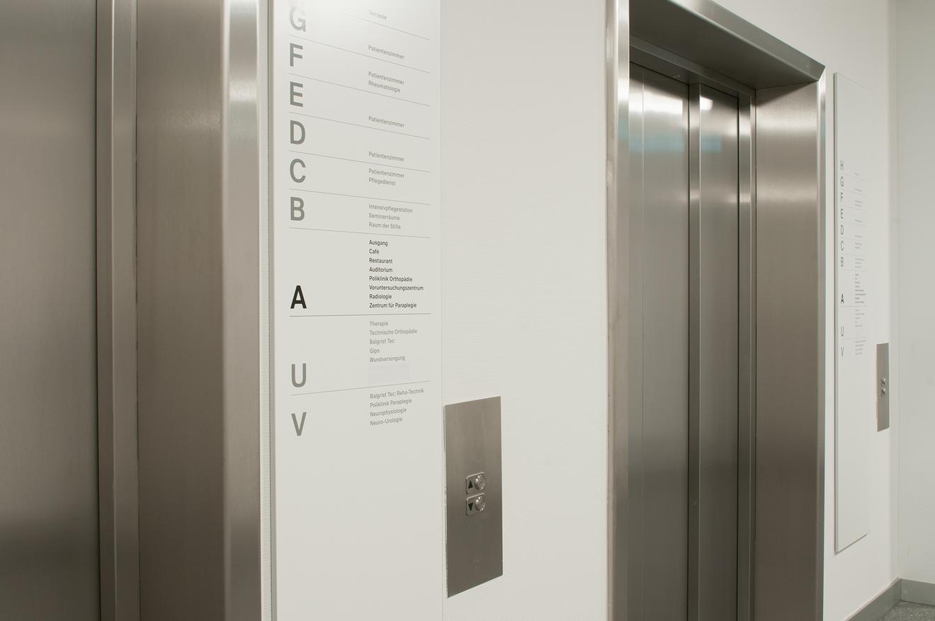 Balgrist医院导视系统设计@mifflin-schmid