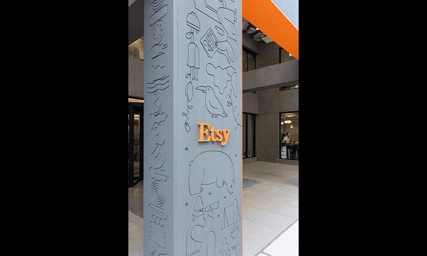 Etsy全球总部标识系统设计@afreeman