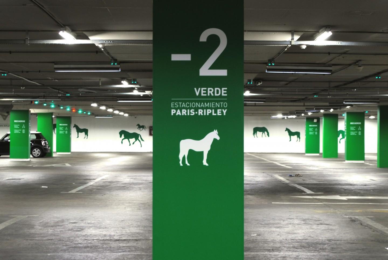 阿劳科公园购物中心停车场导视系统设计 Egd环境图形设计