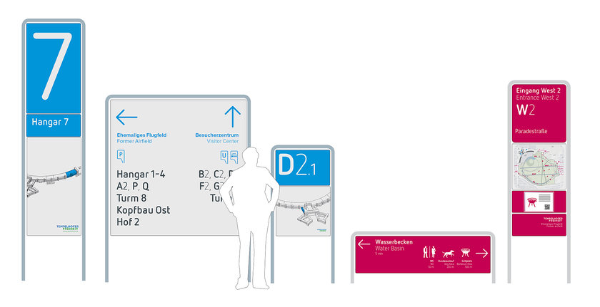 滕珀尔霍夫机场户外导视系统设计©moniteurs