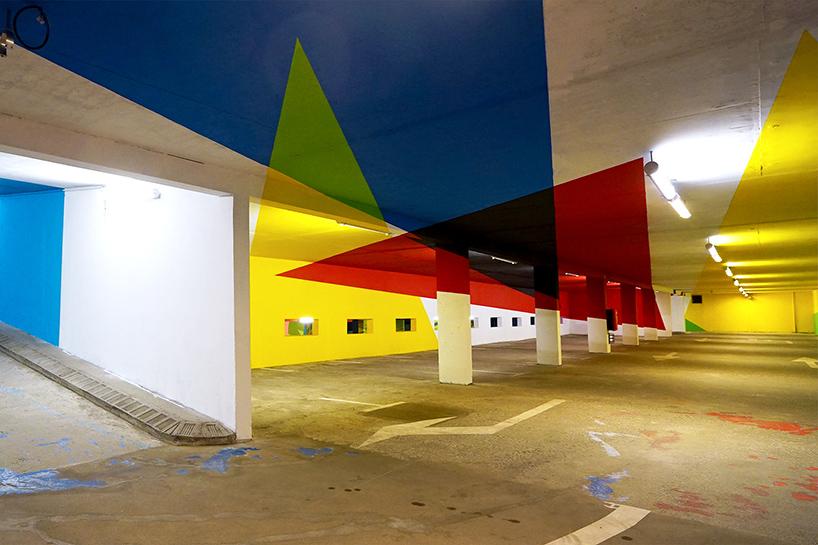 法国勃朗峰停车场环境图形设计