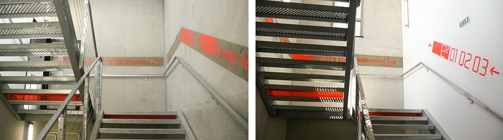 勒·柯布西耶高中标识系统设计©beatricefichet