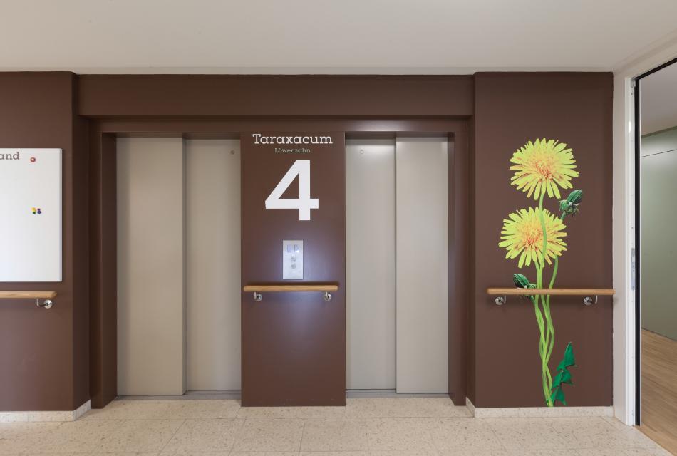 温特图尔Wiesengrund养老中心标识系统设计©feinform