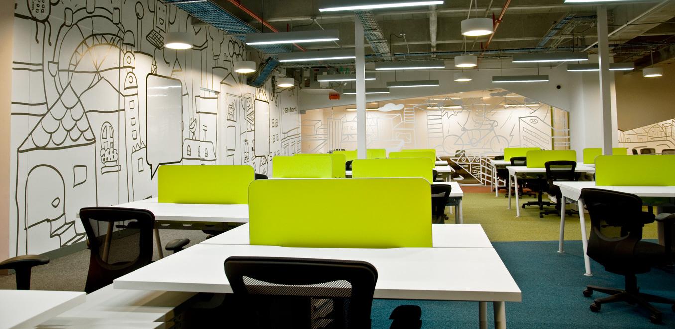 哥伦比亚Globant办公室图形设计©toquica
