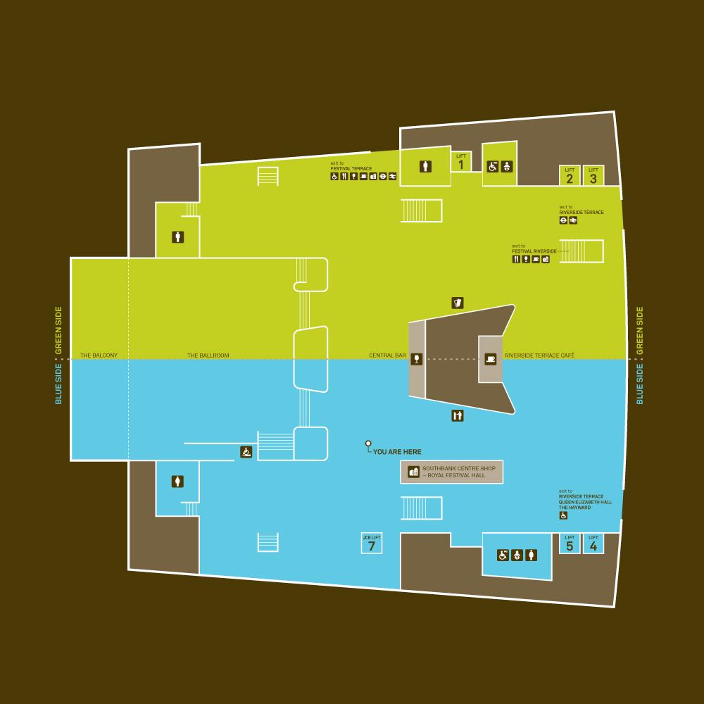 伦敦南岸中心导视系统规划设计©fwdesign