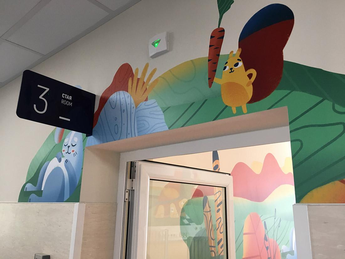 皮洛戈夫儿童医院环境图形系统 © LHSA+DP