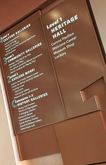 美国非裔历史文化博物馆标识系统设计©poulin+morris