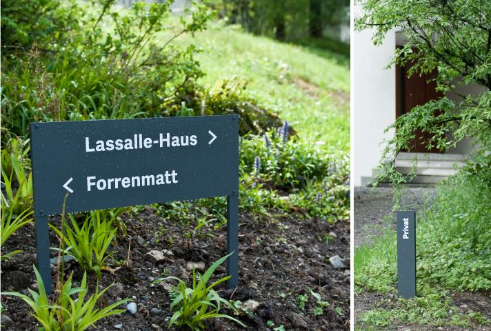 Lassalle-Haus 导视系统设计 © otth AG