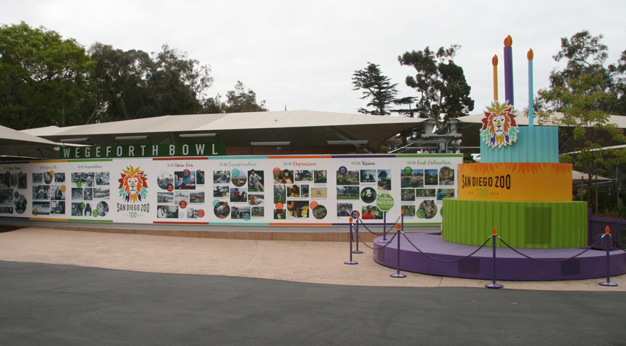 圣地亚哥动物园环境图形设计© Hunt Design