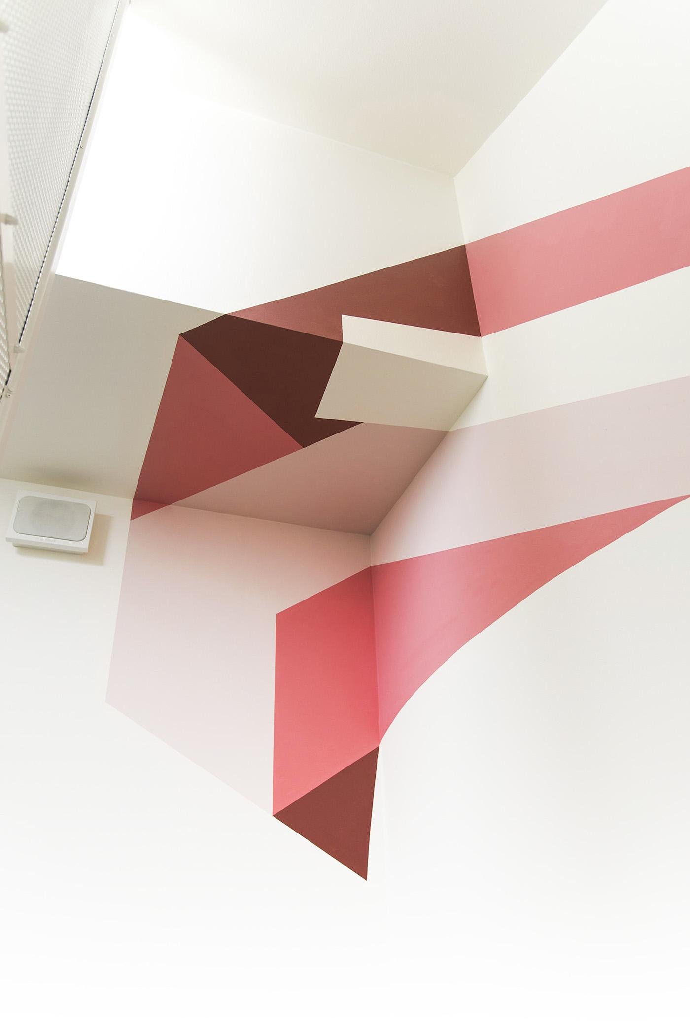 亚马逊楼梯变形标识设计©Truly Design Studio