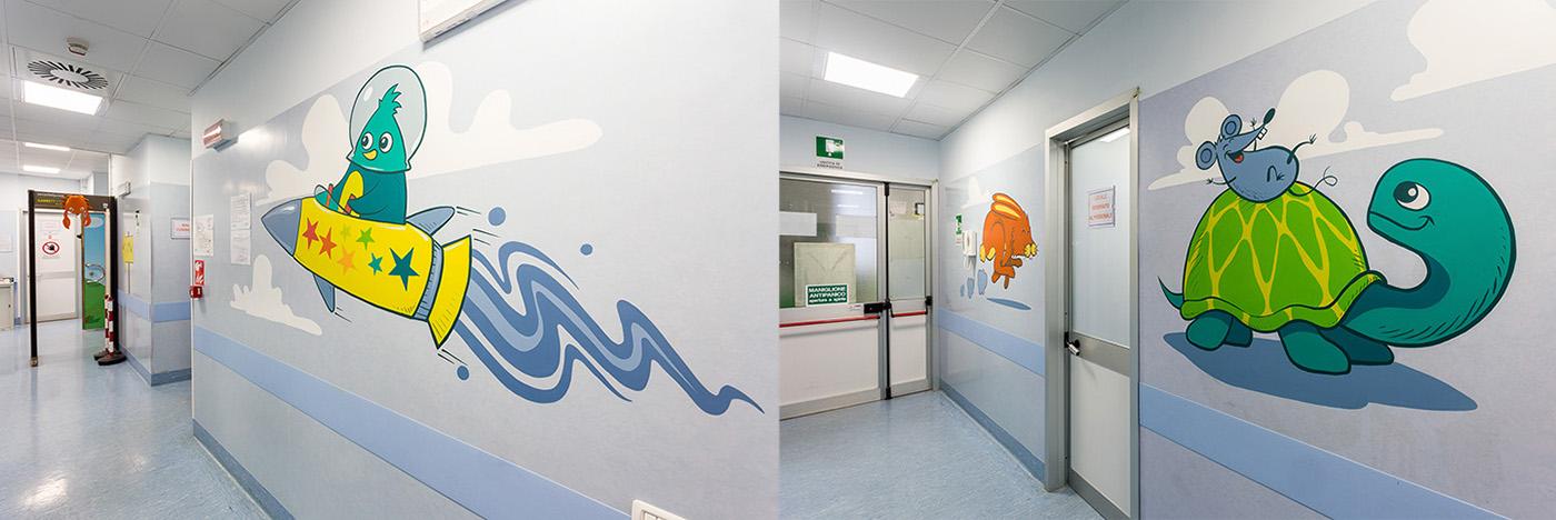 Regina Margherita 儿童医院环境图形设计 ©Truly Design Studio