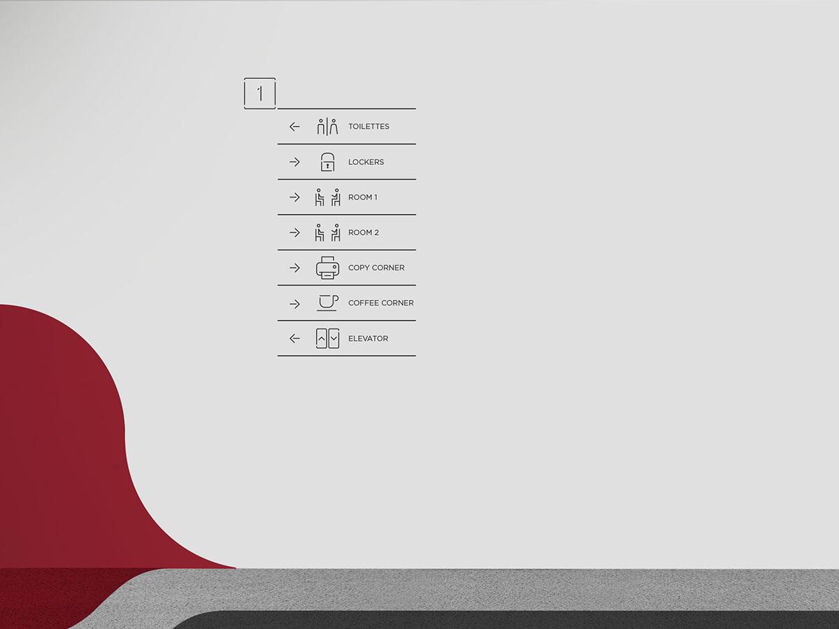 Thalys 办公室导视系统设计©Bullseye