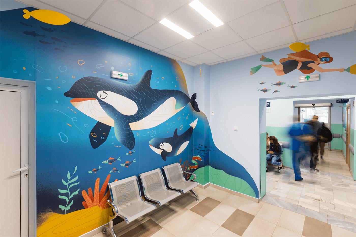 Pirogov 儿童病房环境图形设计©FourPlus Studio