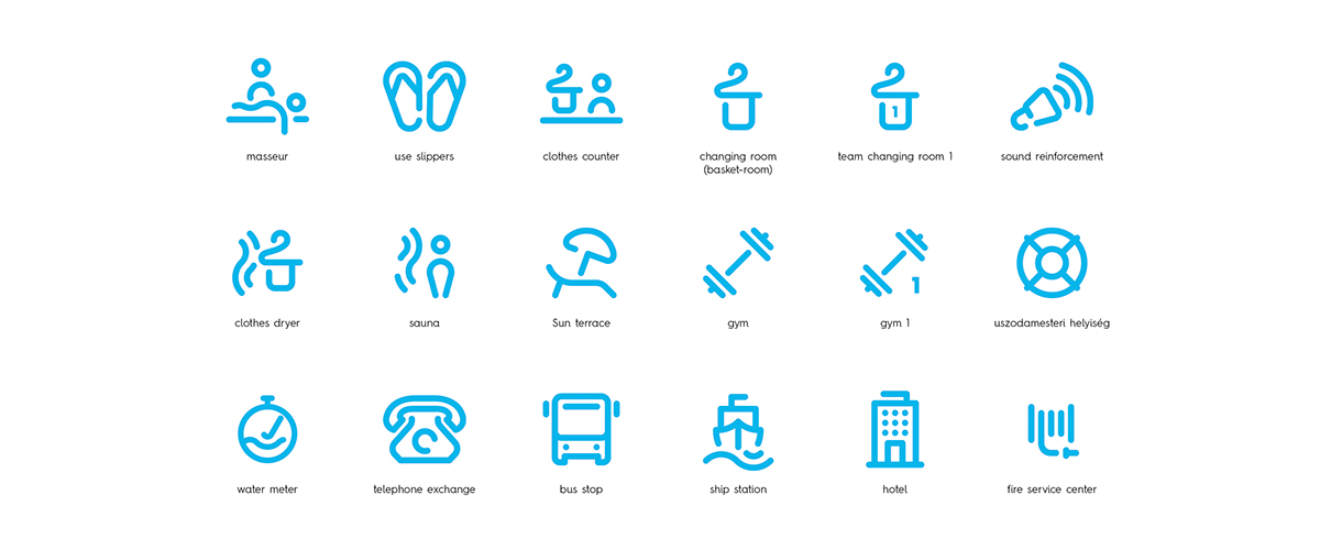 国际泳联世界游泳锦标赛导视系统设计 © Graphasel Design Studio