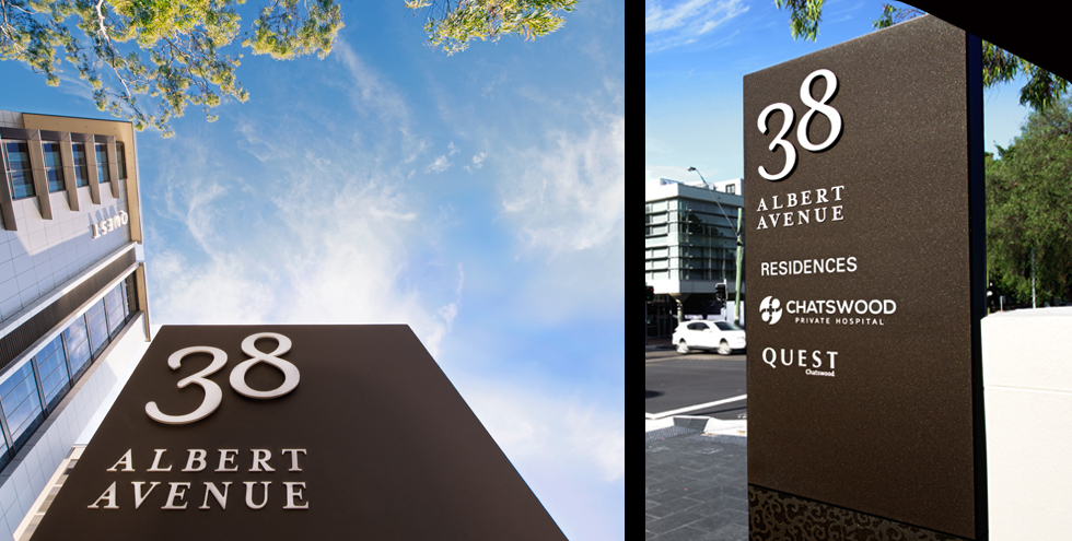 No.38 Albert Avenue 导视系统设计©Brandculture