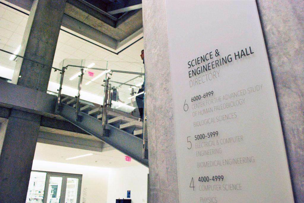 乔治华盛顿大学科学与工程馆导视系统设计©Exit Design