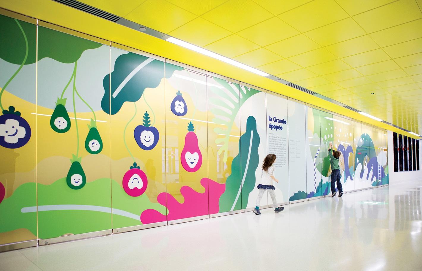圣贾斯汀医院大花园环境图形设计©Sid Lee