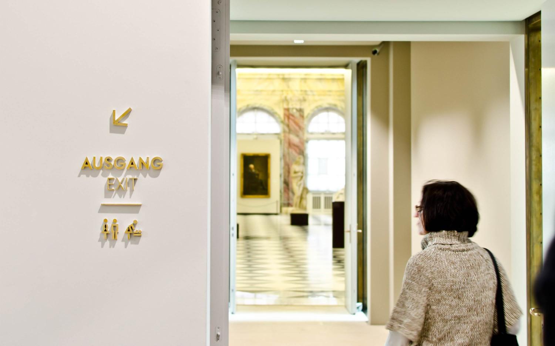 德累斯顿·茨温格古代大师画廊导视系统设计©Daniel Perraudin & Gourdin&Müller