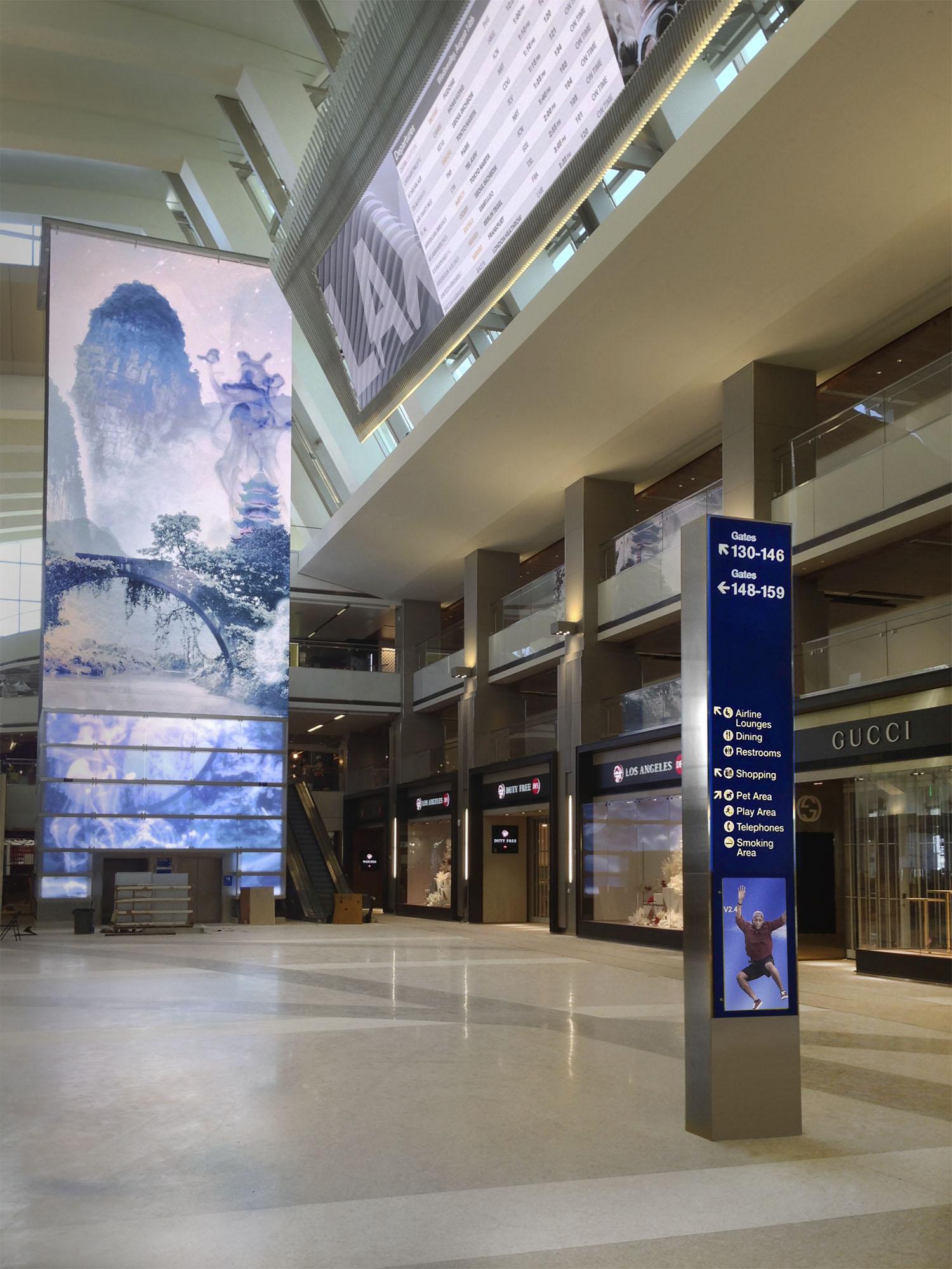 洛杉矶国际机场LAX地标设计©Selbert Perkins Design