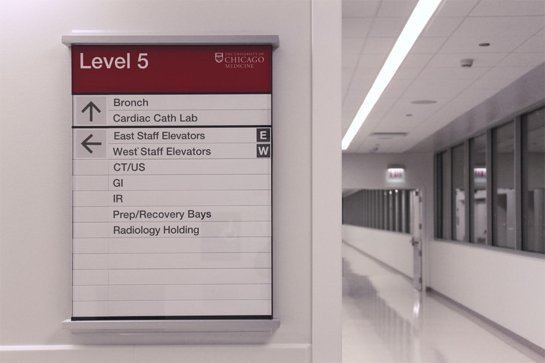 芝加哥大学医学中心导视系统设计©Serigraphics