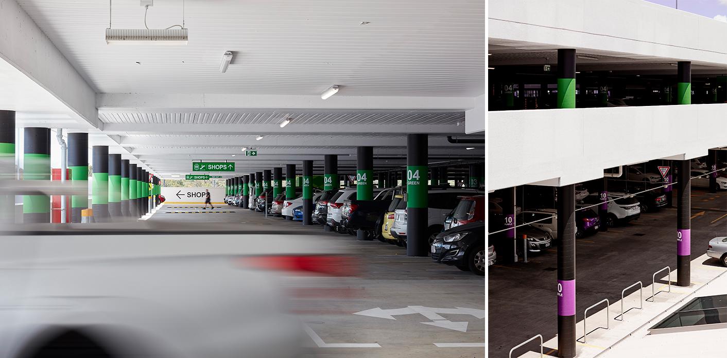 Westfield Chermside 购物中心停车场导视系统设计©dotdash