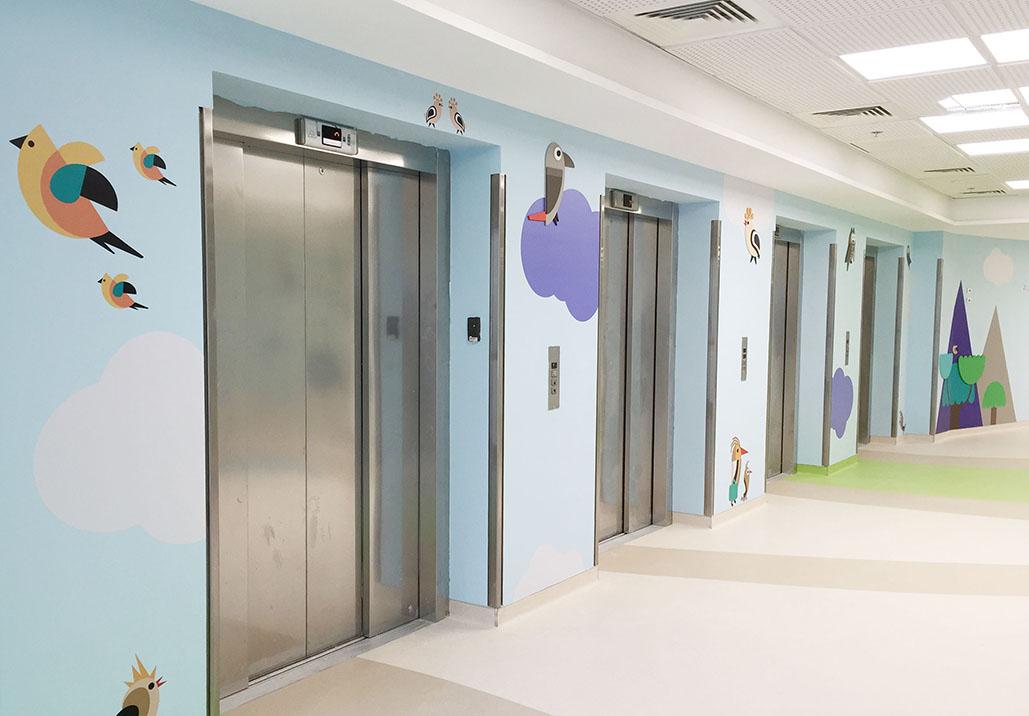 Shaare Zedek社区医院环境图形设计©Uberpup