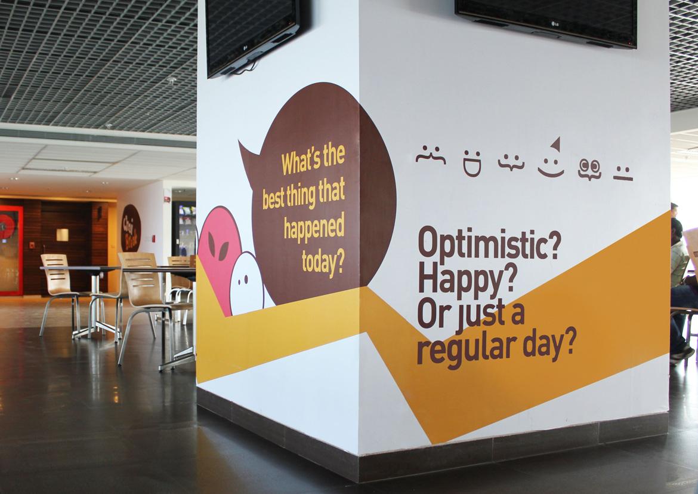Chai Break咖啡馆空间图形设计©Leaf Design