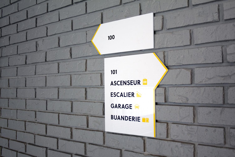 le Quartet 住宅区品牌标识设计 ©Stéphanie Aubin