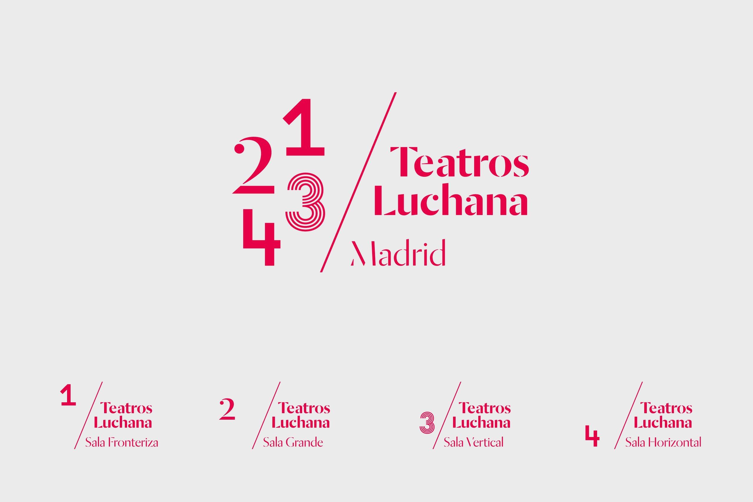 Teatros Luchana 剧院环境标识设计 © toormix