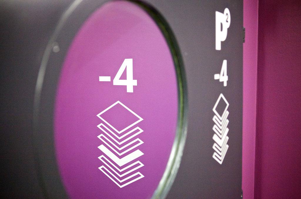 维也纳商业园P2停车场导视设计©Typejockeys